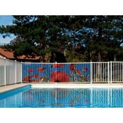 Brise vue de jardin en polyester décor Coquelicot 500 x 100 cm