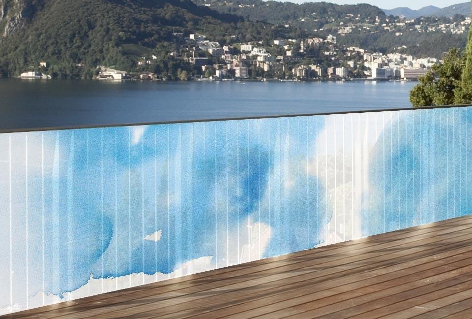 Brise vue en toile pour ext rieurs ciel et nuages 1 x 5 ml for Toile pour exterieur