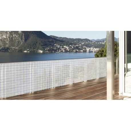 brise vue en toile pour balcon terrasse et jardin brique blanche 1 x 5 ml. Black Bedroom Furniture Sets. Home Design Ideas