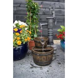 Fontaine de jardin en polyrésine Las Vegas 42 x 36,5 x 80,5 cm