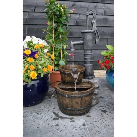Fontaine de jardin en polyrésine Las Vegas 80.5 x 42 x 36.5 cm