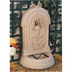 Fontaine de jardin en pierre reconstituée Primevère 45 x 30 x 75 cm
