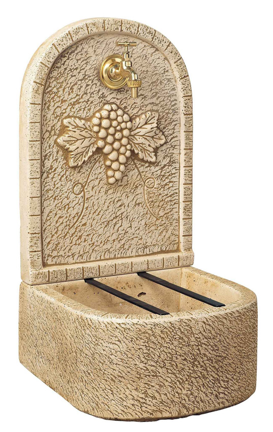 fontaine de jardin en pierre reconstitu e aux raisins 35 x. Black Bedroom Furniture Sets. Home Design Ideas