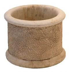 Jardinière en béton ronde 30 x 30 x 20 cm