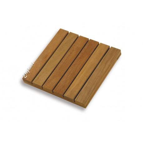 Dalle de terrasse en bois exotique Almendrillo 30 x 30 x 1,9 cm