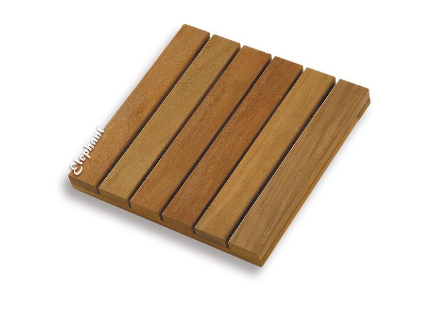 dalle de terrasse en bois exotique 30 x 30 x 1 9 cm. Black Bedroom Furniture Sets. Home Design Ideas
