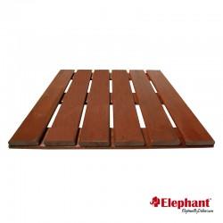 Dalle de terrasse en bois exotique 40 x 40 x 2,2 cm