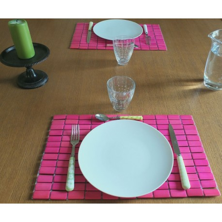 set de table rose