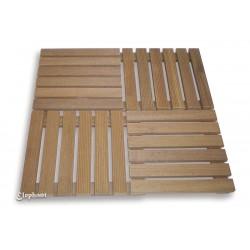 Dalle de terrasse en bois exotique 50 x 50 x 3 cm
