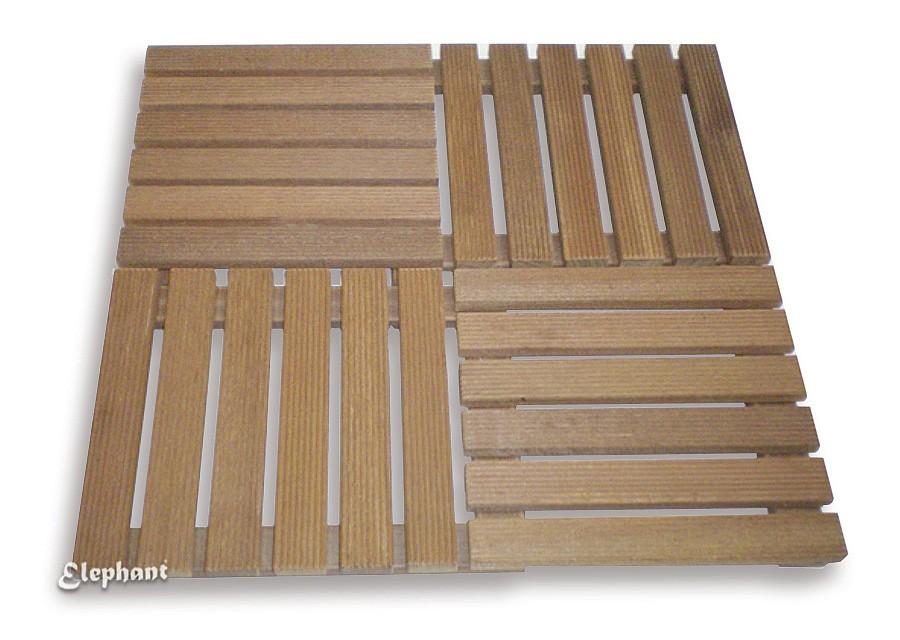 dalle terrasse bois exotique 50 x 50 cm p 30 mm