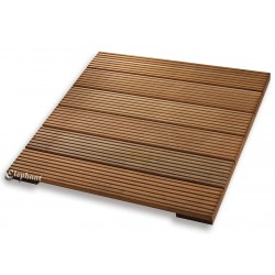 Dalle de terrasse en bois exotique 90 x 90 x 5 cm