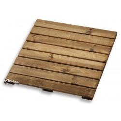 Dalle de terrasse en bois pin 50 x 50 x 2,2 cm