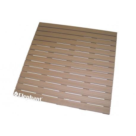 Dalle de terrasse en bois composite 100 x 100 x 2,4 cm brun