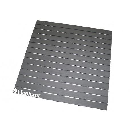 Dalle de terrasse en bois composite 100 x 100 x 2,4 cm gris anthracite