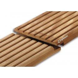 Lame de terrasse en bois exotique bangkiraï 210 x 14,5 x 2,1 cm