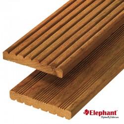 Lame de terrasse en bois exotique garapa 215 x 14,5 x 1,9 cm