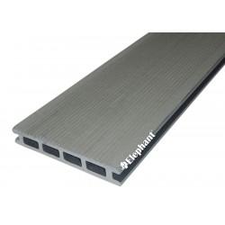 Lame de terrasse en bois composite 215 x 14 x 2,1 cm rock grey