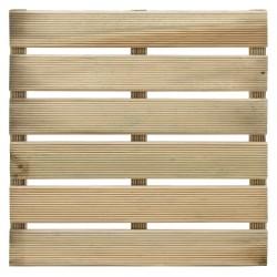 Dalle de terrasse en bois européen pin sylvestre 40 x 40 x 2,8 cm
