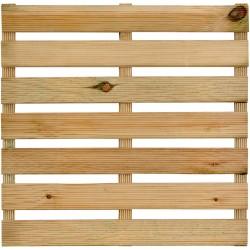 Dalle de Terrasse en Bois Européen Pin Sylvestre 50 x 50 x 2,8 cm