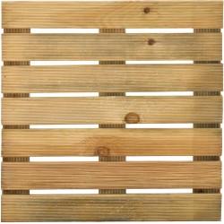 Dalle de terrasse en bois européen pin 50 x 50 x 3,6 cm