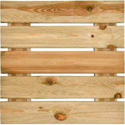 Dalle de terrasse en bois européen pin sylvestre 50 x 50 x 3,8 cm