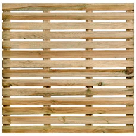 Dalle de terrasse en bois européen pin sylvestre 100 x 100 x 2,8 cm