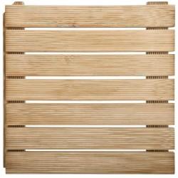 Dalle de Terrasse en Bois Européen Pin Autobloquante 50 x 50 x 4,4 cm