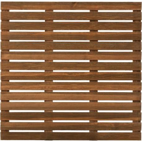 Dalle de Terrasse en Bois Européen Pin Sylvestre 100 x 100 x 2,8 cm brun