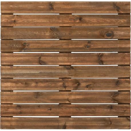 Dalle de Terrasse en Bois européen Pin Sylvestre 100 x 100 x 3,8 cm brun
