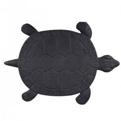 Pas japonais de jardin en fonte animaux tortue 32,2 x 23 x 1,8 cm
