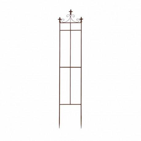 Treillage de jardin en acier rouillé lys S 32 x 1,9 x 164,5 cm
