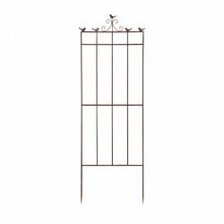Treillage de jardin en acier rouillé oiseau L 52,5 x 2,3 x 160 cm