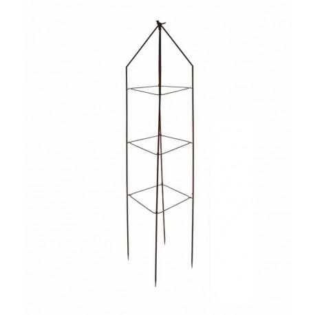 Treillage de jardin en acier rouillé oiseau carré 28,3 x 28,3 x 170,5 cm