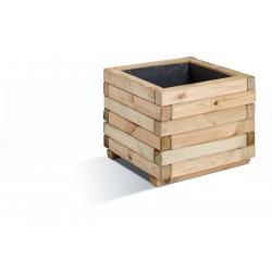 Jardinière en bois carrée Stockholm 40 x 40 x 33 cm