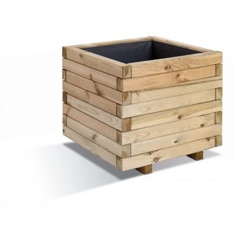 Jardinière en bois carrée Stockholm 50 x 50 x 43 cm
