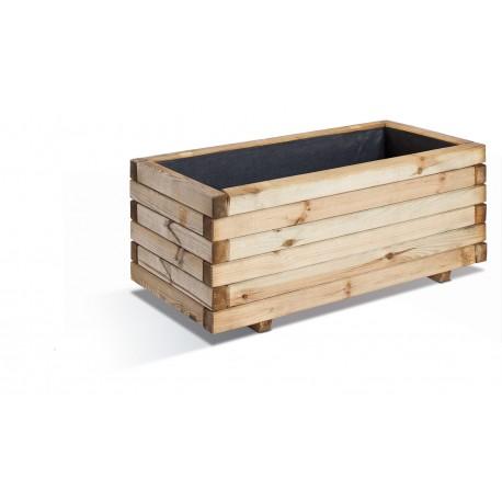 Jardinière en bois rectangulaire Stockholm 80 x 40 x 33 cm