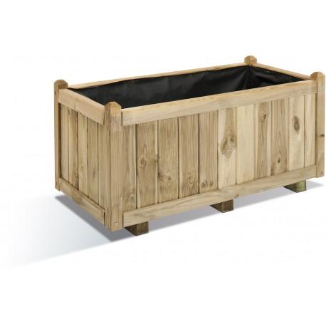 Jardinière en bois rectangulaire Vendôme 92 x 46 x 43 cm