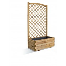 Jardinière en bois rectangulaire avec treillis 80 x 40 x 152 cm