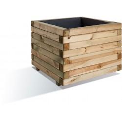 Jardinière en bois carrée Stockholm 80 x 80 x 60 cm
