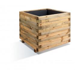 Jardinière en bois carrée Stockholm 100 x 100 x 81 cm