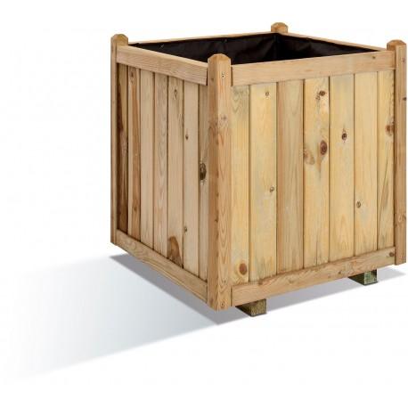 Jardinière en bois carrée Vendôme 60 x 60 x 65 cm