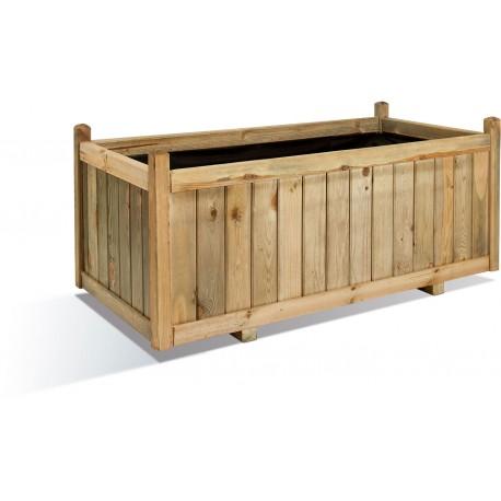Jardinière en bois rectangulaire Vendôme 120 x 60 x 50 cm