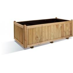Jardinière en bois rectangulaire Vendôme 140 x 70 x 50 cm