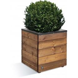 Jardinière en bois carrée Selekt 45 x 45 x 47,5 cm