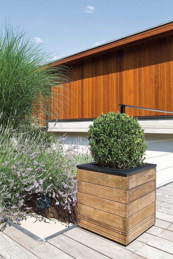 Jardini re en bois carr e selekt 45 x 45 x 47 5 cm - Jardiniere bois ...