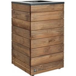Jardinière en bois carrée Selekt 45 x 45 x 76 cm