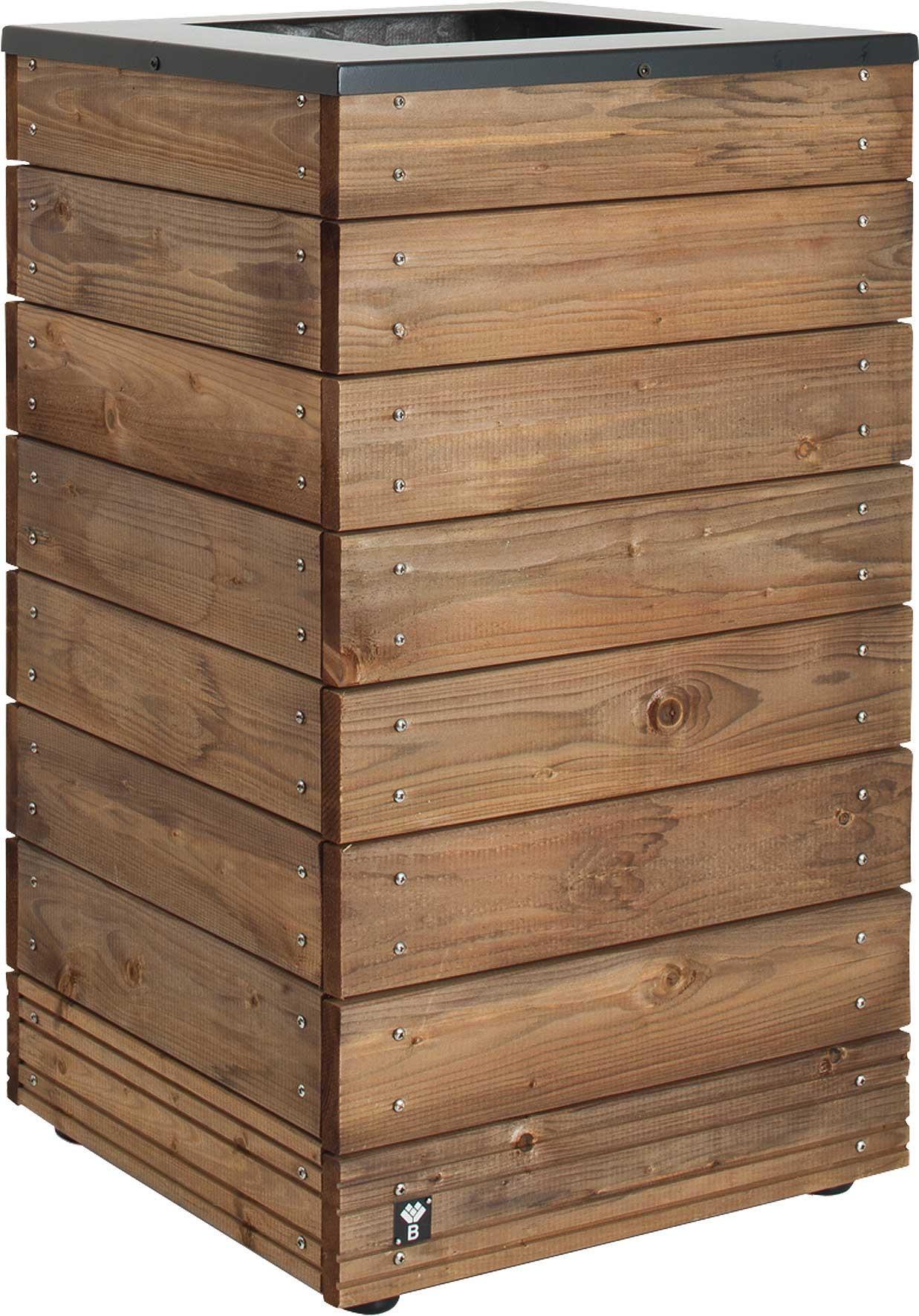 Jardini re en bois carr e selekt 45 x 45 x 76 cm - Jardiniere bois ...