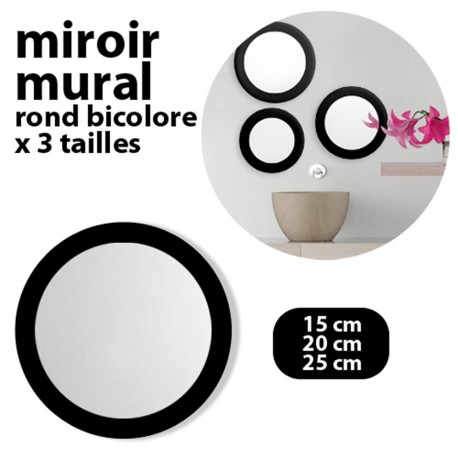 Lot 3 miroirs ronds