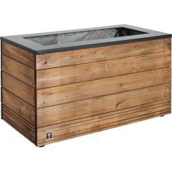 Jardinière en bois rectangle Selekt 90 x 45 x 47,5 cm
