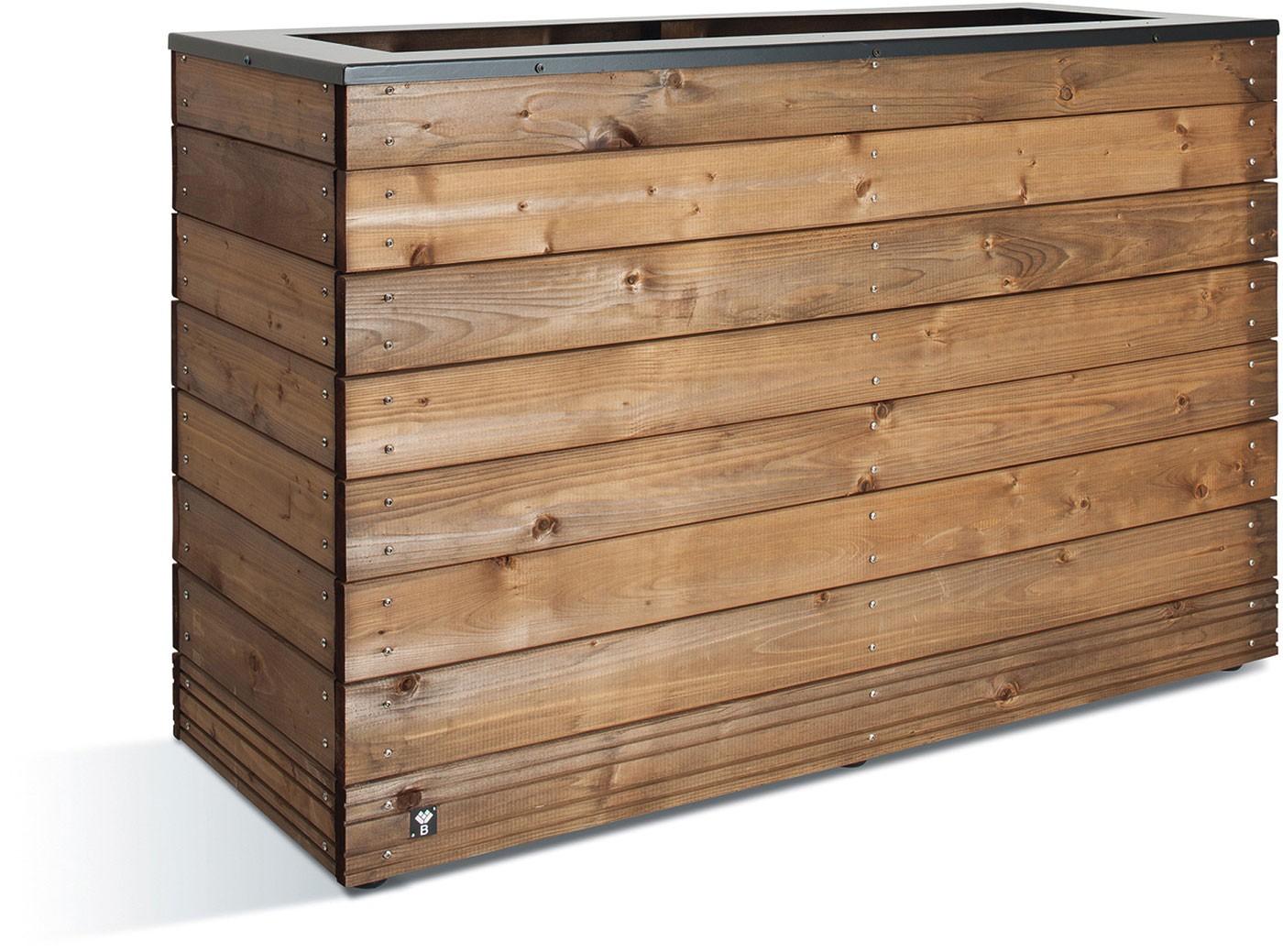 Jardini re en bois rectangulaire selekt 120 x 45 x 76 cm - Jardiniere en bois ...